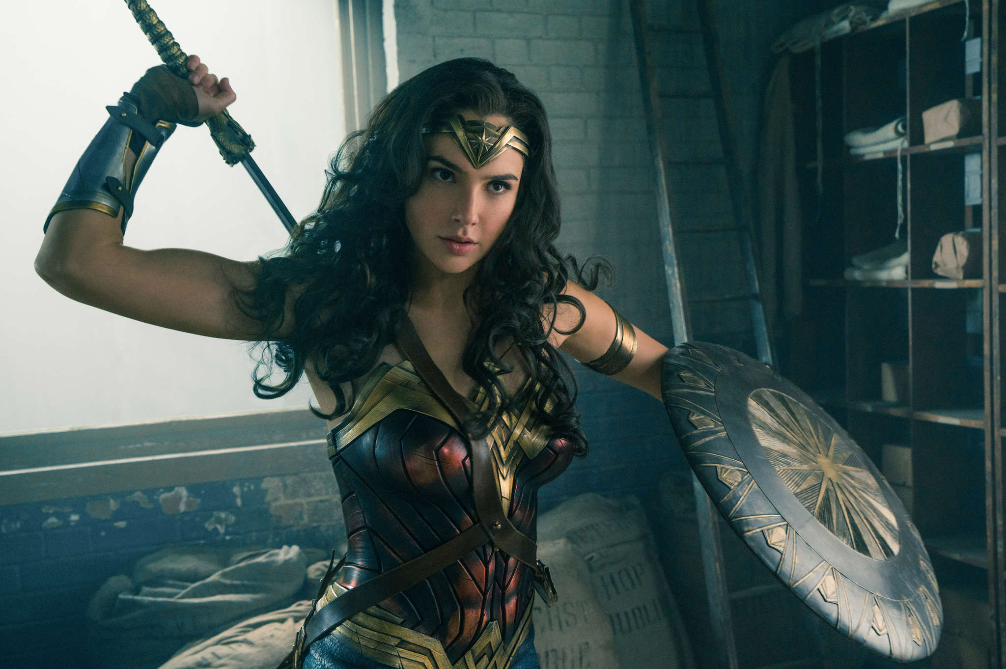 "Gal Gadot stars in ""Wonder Woman"""