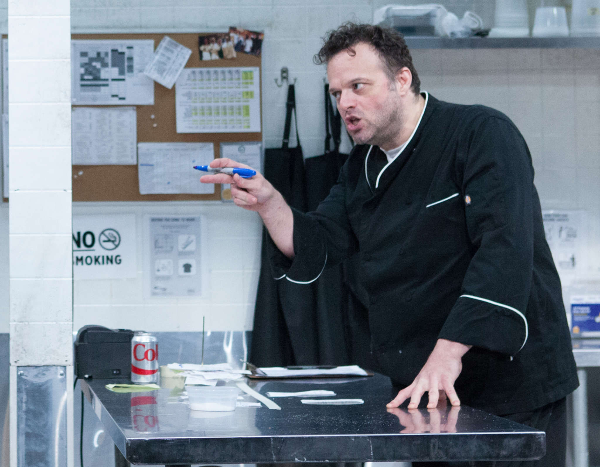 """Scott Greer is the chef with a dark and tortured past in """"How to Use a Knife,"""" at InterAct Theatre."""