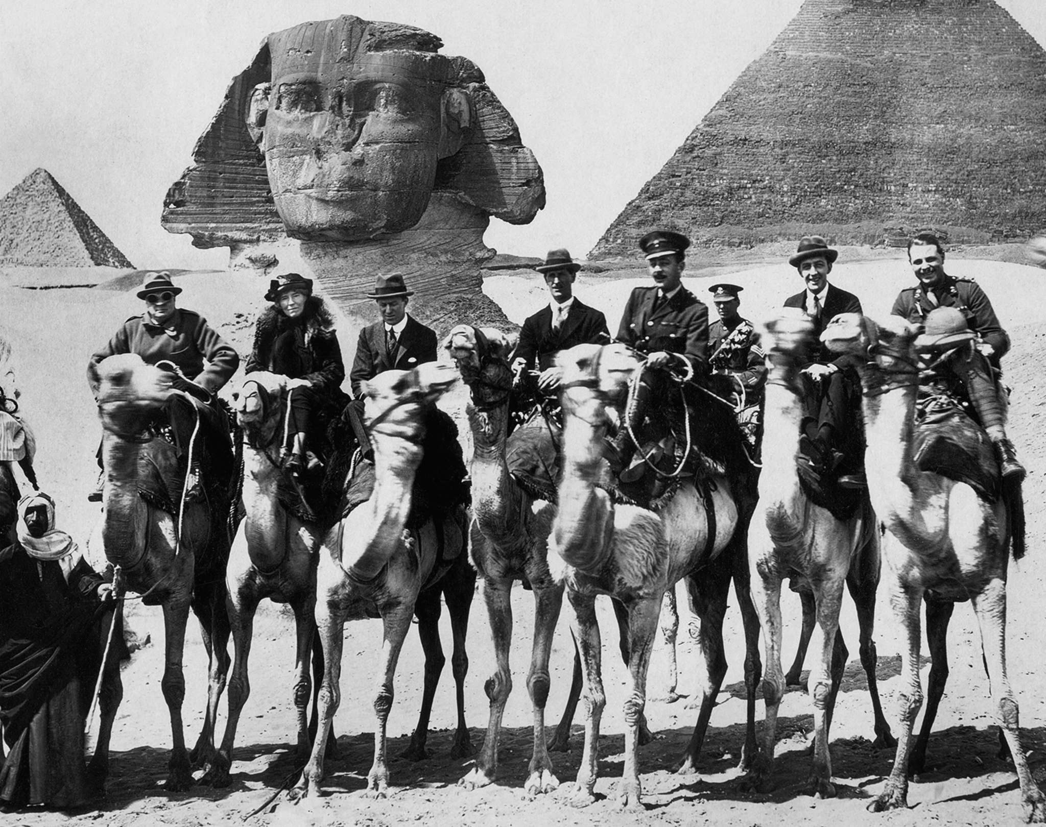 """""""Letters From Baghdad"""": Documentary about Gertrude Bell - second from left, between Winston Churchill and T.E. Lawrence (""""Lawrence of Arabia"""") - who was a British spy and explorer and helped draw the borders of Iraq."""