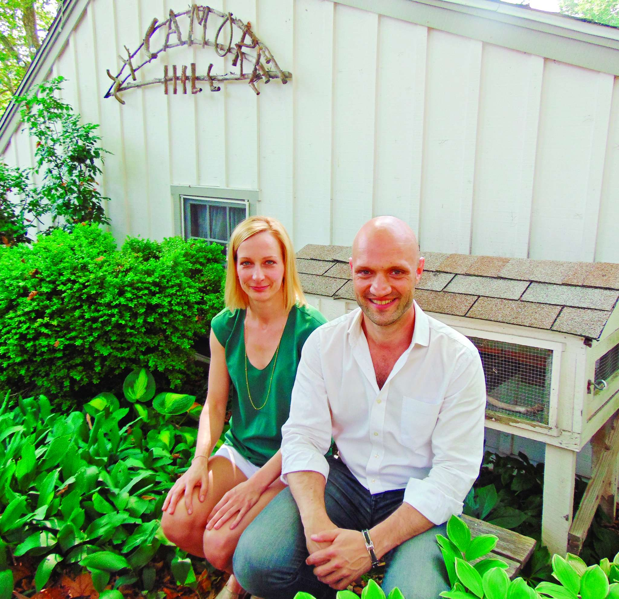 "Nina Covalesky and Seth Reich of Theater With a View at Sycamore Hill, site of their ""Rabbit Hole."""
