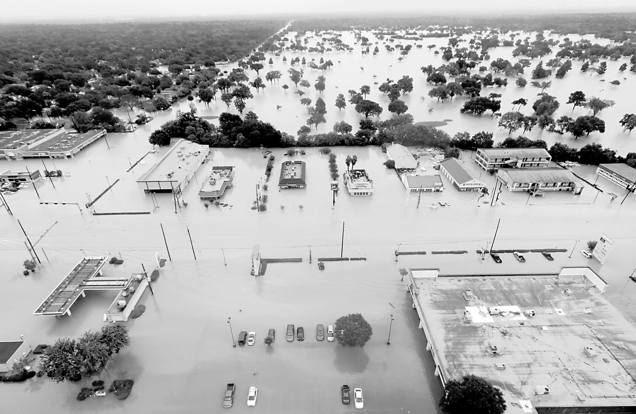 Hurricane Harvey left Houston neighborhoods flooded. Business owners have only just started assessing the damage.