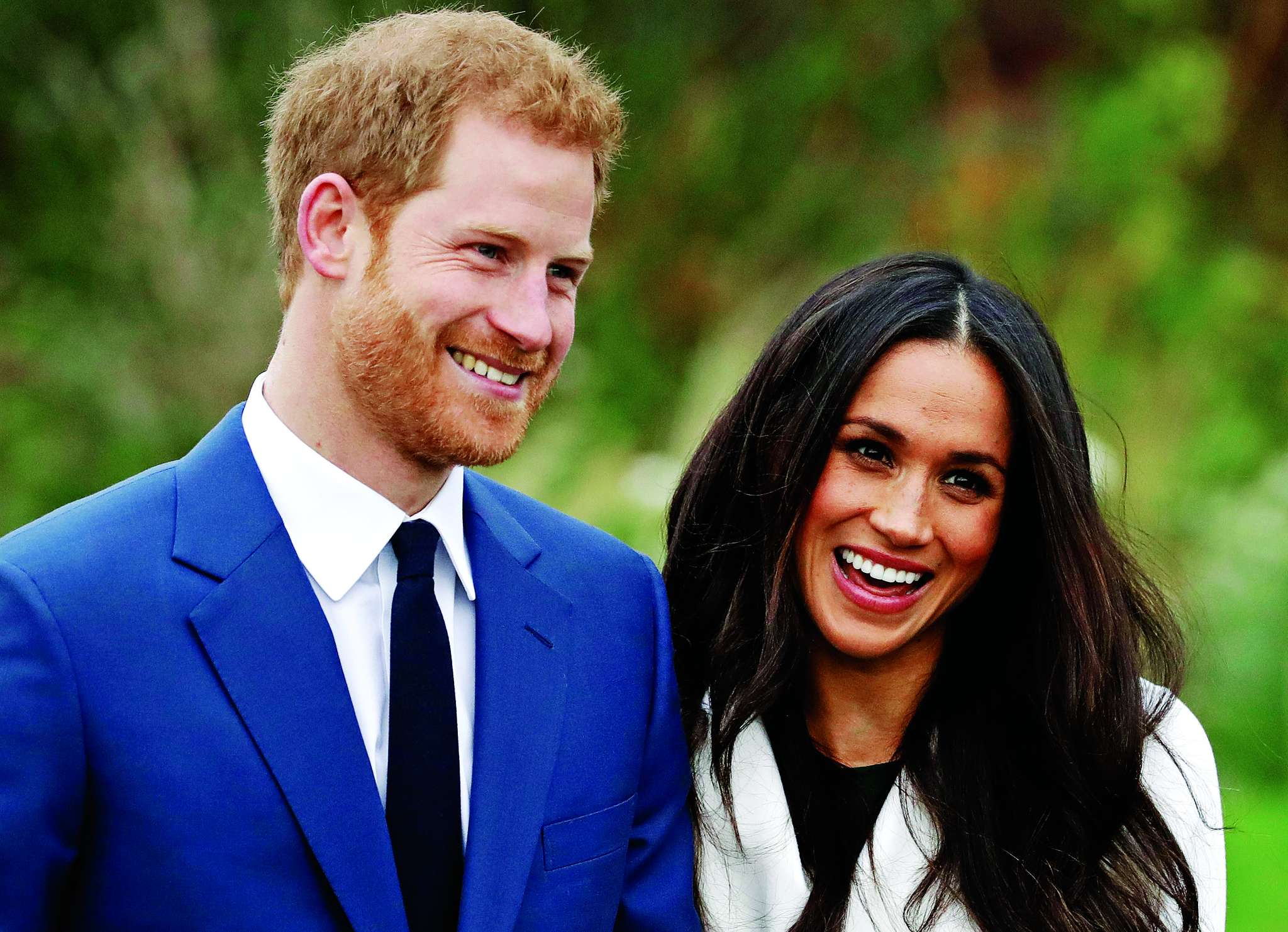 Britain´s Prince Harry and his fiancée, Meghan Markle , at Kensington Palace in London on Monday. The couple announced they will marry in the spring.