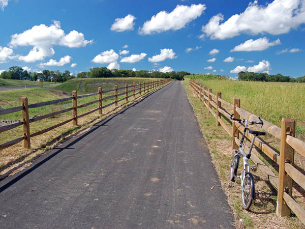 On Saturday, June 21 bikers will ride for 30 miles along the 202 Parkway Trail. (Photo via Devine and Partners)