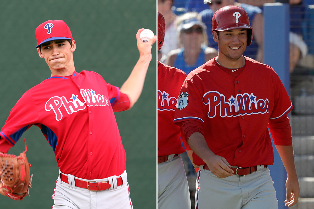 Phillies call-ups Hoby Milner (left) and Cameron Perkins.