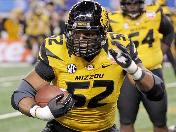 Missouri defensive lineman Michael Sam. (Tim Sharp/AP)