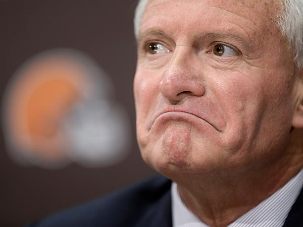 Jimmy Haslam did it again. (AP Photo/Tony Dejak)
