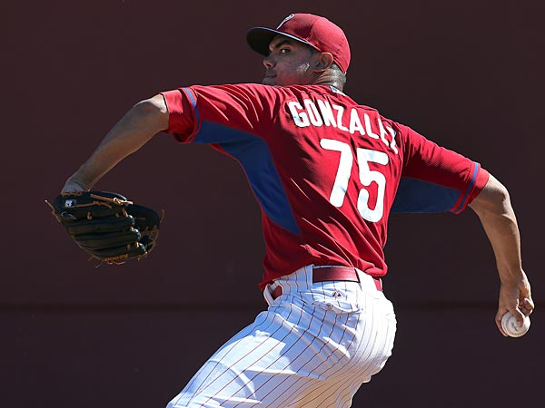 Phillies pitcher Miguel Miguel Alfredo Gonzalez. (David Maialetti/Staff Photographer)