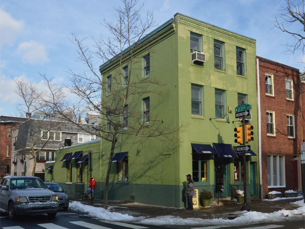 Tria will take the former Dmitri´s at 23d and Pine Streets, photographed last winter (hence the snow on the ground).