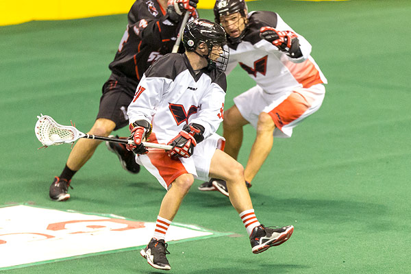 Wings forward Kyle Buchanan is among the NLL leaders in points and assists this season. (Wings photo)<br /><br />
