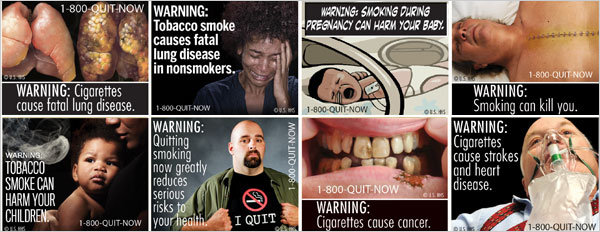 The FDA wants to put these graphic images on cigarette packages.