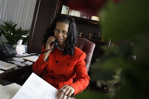 Harrisburg Mayor Linda Thompson is praying for relief from debt payments larger than the city&acute;s entire operating budget. (Photo/Carolyn Kaster)<br />