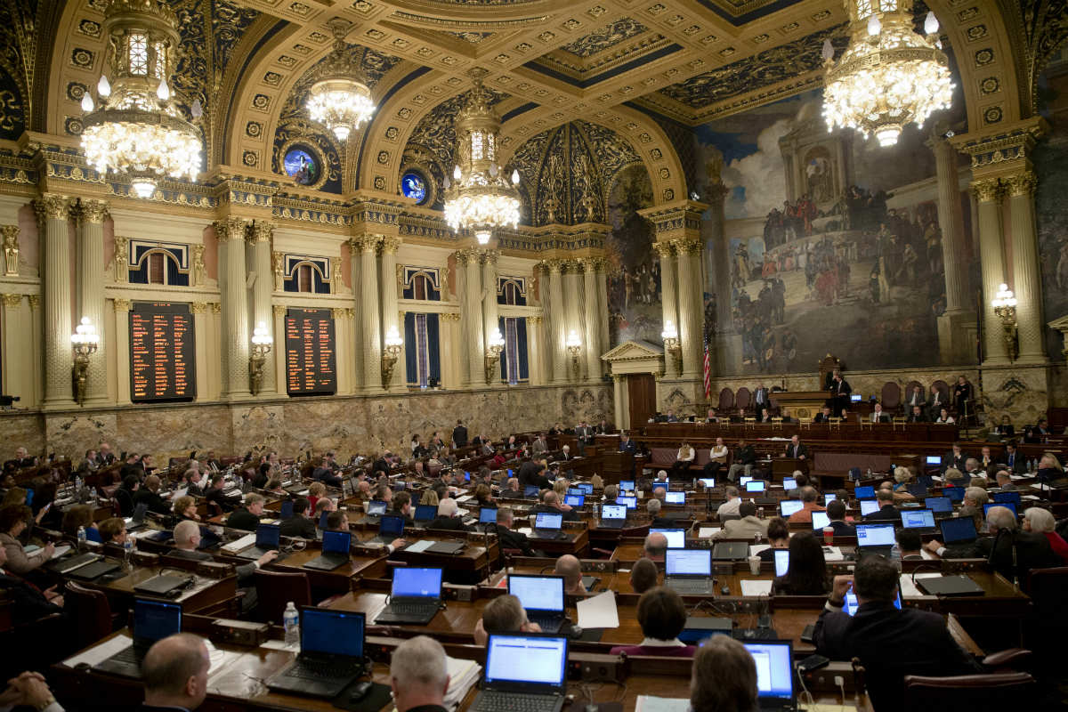 Pa. legislature meets in Harrisburg at the State House.