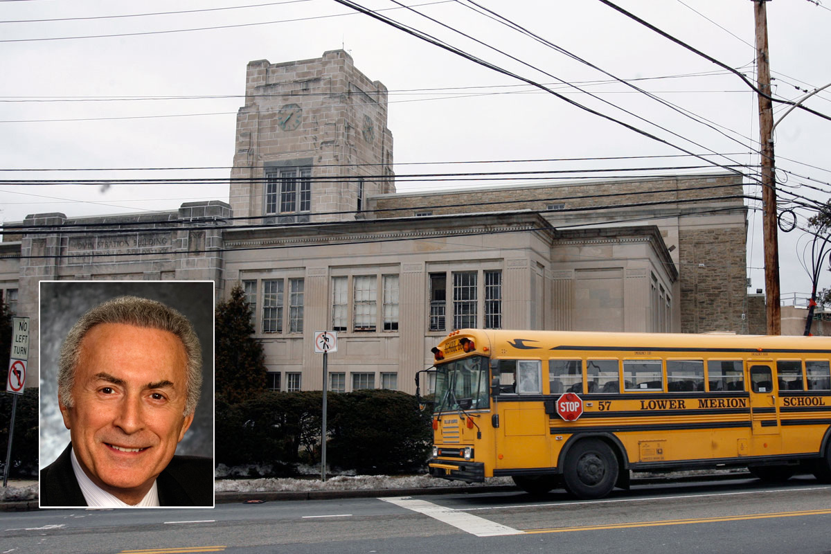 Gladwyne lawyer Arthur Wolk (inset) sued the Lower Merion School District after watching his tax bills escalate 53.3 percent since 2006.