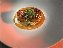 Bliss´ scallop special with eel.                                      (Jonathan Wilson / Inquirer)