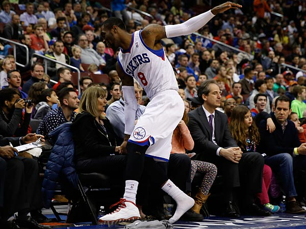 Philadelphia 76ers´ Tony Wroten in action during an NBA basketball game against the Indiana Pacers, Friday, March 14, 2014, in Philadelphia. (AP Photo/Matt Slocum)
