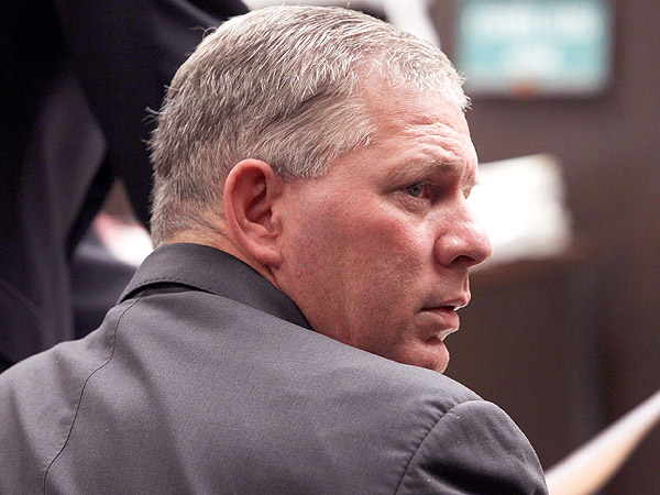 Former Phillies outfielder Lenny Dykstra during his March 2012 sentencing for grand theft auto in the San Fernando Valley section of Los Angeles. (AP)