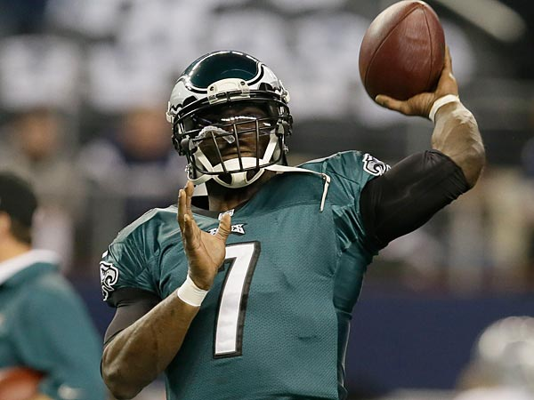 Former Eagles quarterback Michael Vick. (Tony Gutierrez/AP)
