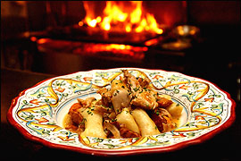 Braised rabbit with gnocchi and chanterelle mushrooms is a treat.                                      (Scott S. Hamrick/Inquirer)