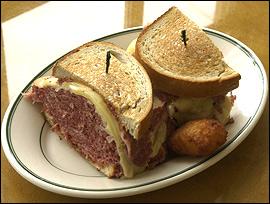 A Famous corned-beef reuben.                                      (Akira Suwa/Inquirer )