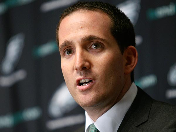 Eagles GM Howie Roseman. (AP Photo/Mark Stehle)