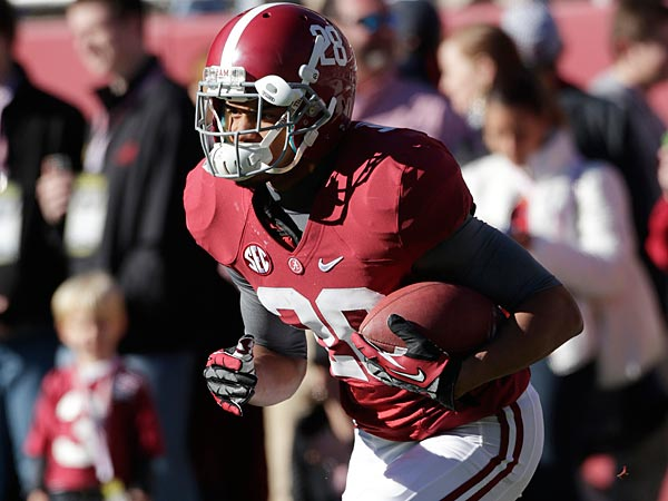 Alabama defensive back Dee Milliner (28) is pictured before a NCAA<br />college football game against Auburn at Bryant-Denny Stadium in<br />Tuscaloosa, Ala., Saturday, Nov. 24, 2012. (AP Photo/Dave Martin)