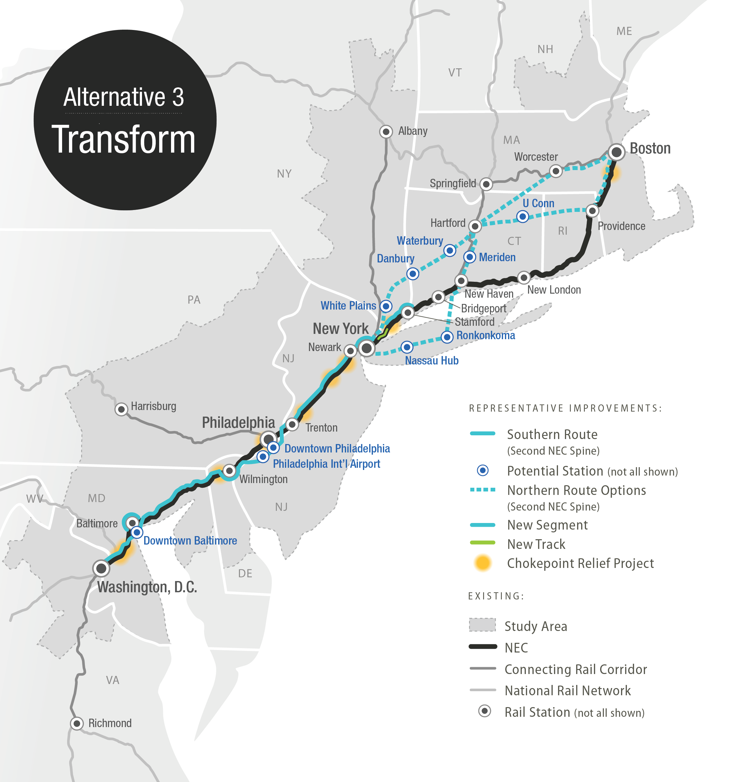 It Pitches A Station In Downtown Philly And Offers Some Very Different Routes For Trains In New England That Veer Away From Amtrak S Current Coast Hugging