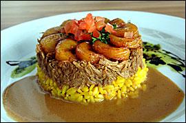 ´Lechon Asado,´ citrus marinated pork with saffron rice at Casona in Collingswood.                                      SHARON GEKOSKI-KIMMEL/Inquirer