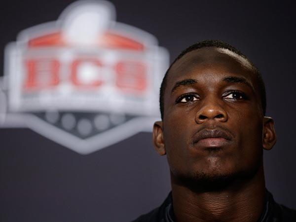 Florida State linebacker Telvin Smith listens to a question during a news conference on Thursday, Jan. 2, 2014. (AP Photo/Jae C. Hong)