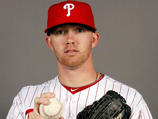 Phillies&acute; pitcher Tyler Cloyd during spring training photo day in<br />Clearwater, FL on Monday, February 18, 2013.  ( Yong Kim / Staff<br />Photographer )