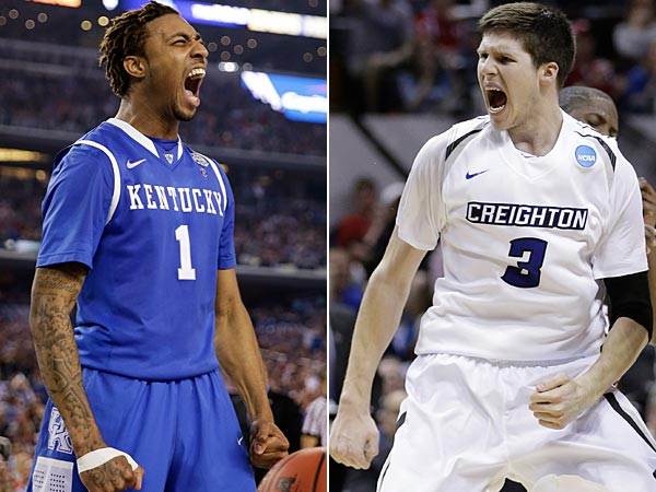 Kentucky guard James Young (left) and Creighton´s Doug McDermott (right). (AP Photos)