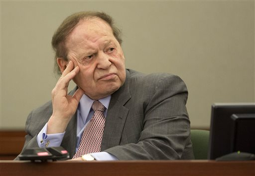 Casino mogul Sheldon Adelson (AP Photo/Julie Jacobson) <br />