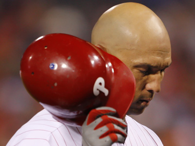 Phillies outfielder Raul Ibanez was placed on the 15 day disabled list.       (Ron Cortes/Staff Photographer)