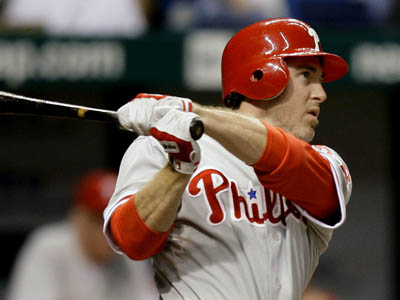 Chase Utley went 3 for 5 with four RBIs and a HR in last night´s 10-1 win over the Tampa Bay Rays. (AP Photo/Chris O´Meara)