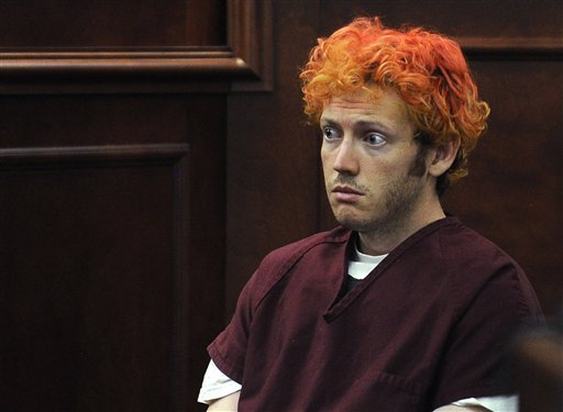 James E. Holmes appears in Arapahoe County District Court, Monday, July 23, 2012, in Centennial, Colo. (AP Photo/Denver Post, RJ Sangosti, Pool)<br />