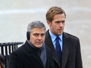 "George Clooney, Ryan Gosling, ""Ides of March"""
