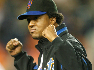 Pedro Martinez arrived in Philadelphia today for a physical.   (AP Photo/Kathy Willens)