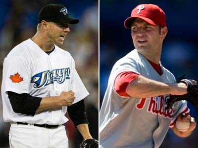 If the Phillies were to get P Roy Halladay, J.A. Happ would probably be involved in the trade.   (AP Photo File Photos)