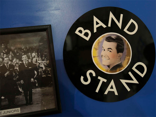 Dick Clark´s American Band Stand memorabilia on display at the former WFIL-TV studios in the 4600 block of West Market Street. (Staff File Photo)