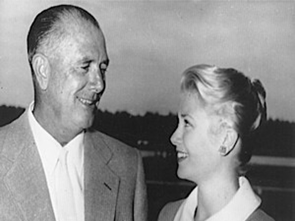 John B. Kelly and his daughter Grace Kelly in September 1954 (AP Photo).