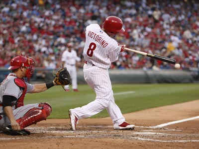 Shane Victorino is one of five finalists for the last roster spot on the National League All-Star team.  (Ron Cortes / Staff Photographer)