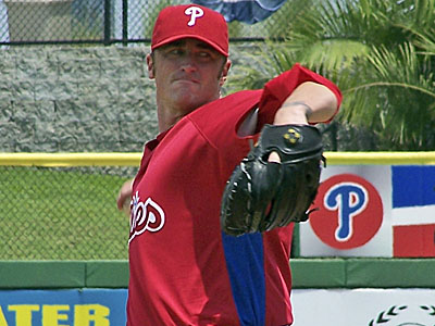 The Phillies do not expect Brett Myers to need the full 30 days allowed for a rehab assignment (Eddie Michels/AP)