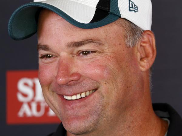 Philadelphia Eagles defensive coordinator Bill Davis speaks to members<br />of the media during NFL football training camp Monday, Aug. 4, 2014,<br />in Philadelphia. (AP Photo/Matt Rourke)
