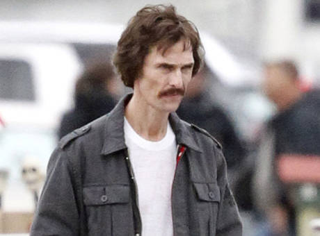 "McConaughey as Woodroof, in ""Dallas Buyers Club."""