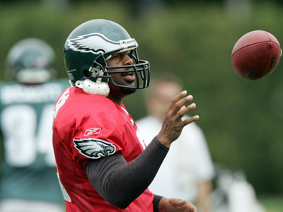 Donovan McNabb and the Eagles open their season against the Panthers Sunday. (David Swanson / Staff Photographer)