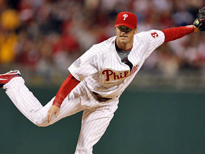 Could Brett Myers take over Brad Lidge´s closer position? Join the chat and find out.    (David Maialetti / Staff Photographer)