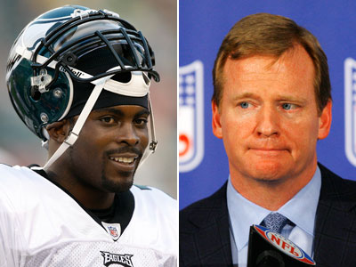 Roger Goodell said he would rule on Michael Vick´s eligibility prior to the sixth week of the regular season. (File Photos)