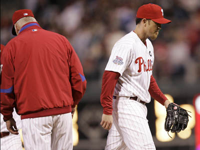 """Definitely I want to be loyal to him and things like that, but at the same time, like I told him last night, game is the first priority,"" said Charlie Manuel about Brad Lidge. (AP Photo/Tom Mihalek)"