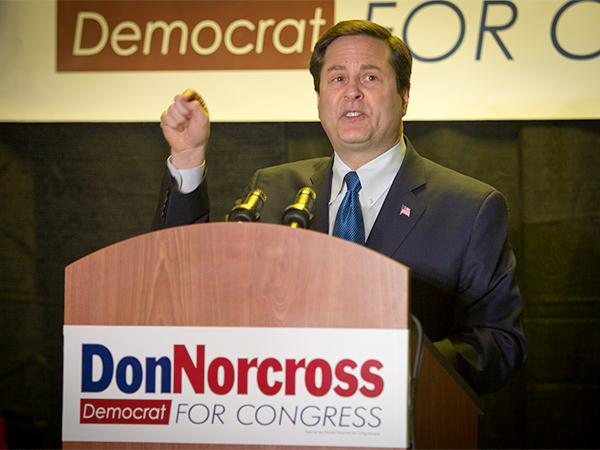 An open South Jersey House seat has presented an enticing opportunity for candidates like Donald Norcross: the chance to hit up donors for twice as much campaign money without having to do any extra campaigning. ( ALEJANDRO A. ALVAREZ / STAFF PHOTOGRAPHER )