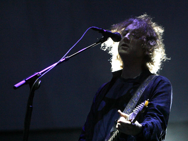 Lead singer Kevin Shields and My Bloody Valentine perform during the All Points West music festival at Liberty State Park Saturday, Aug. 1, 2009 in Jersey City, N.J. (AP Photo/Jason DeCrow)