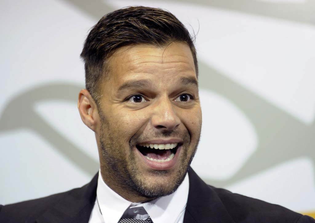 "Most famous for his musical career, Ricky Martin is in the Broadway production of ""Evita."""